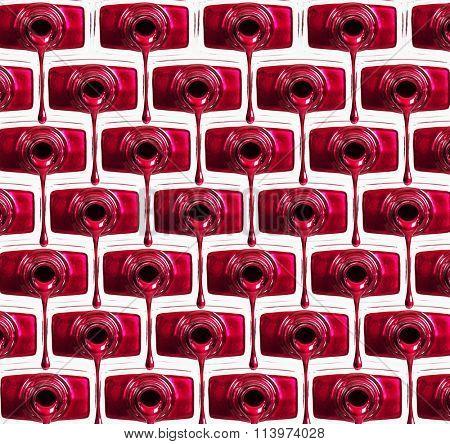Red nail polish background.