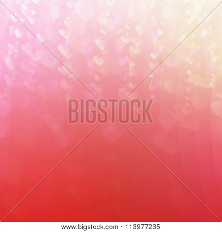 abstract romantic background of luminous lines in the form of heart