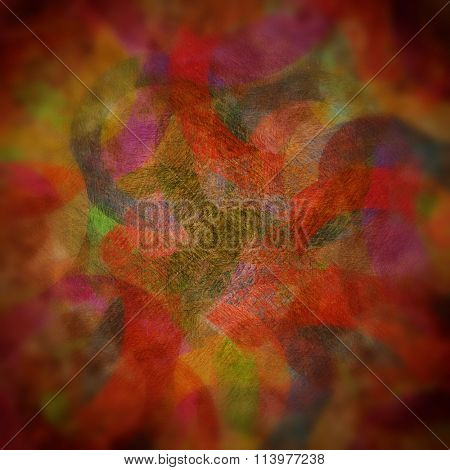 grunge circles on the wall, abstract background