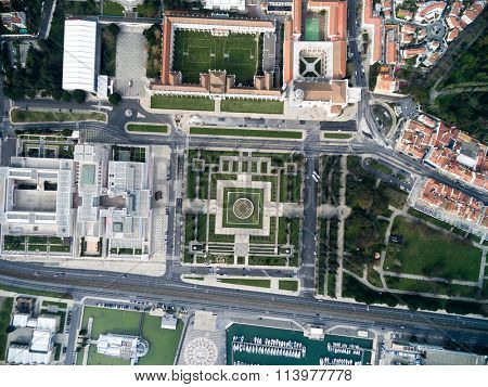 Top View of The Jeronimos Monastery, Lisbon, Portugal
