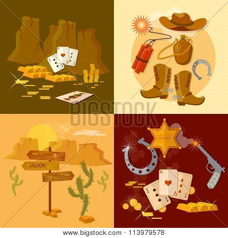 Wild West Collection Set Sheriff Cowboy Bandit