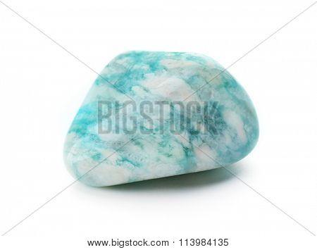 Amazonite isolated on white background
