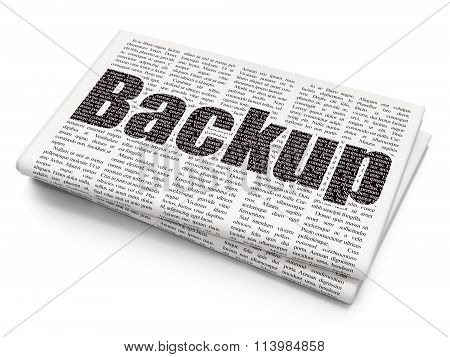 Programming concept: Backup on Newspaper background