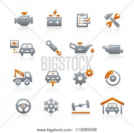 Car Service Vector Icons // Graphite Series