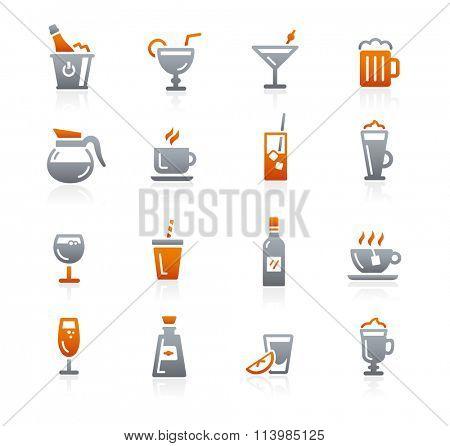 Drinks Icons // Graphite Series