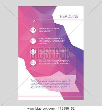 Abstract brochure or flyer design template. Book design, blank, print design, journal. Brochure vector. Brochure template. Flyer design. Flyer template. Brochure abstract design. Brochure background