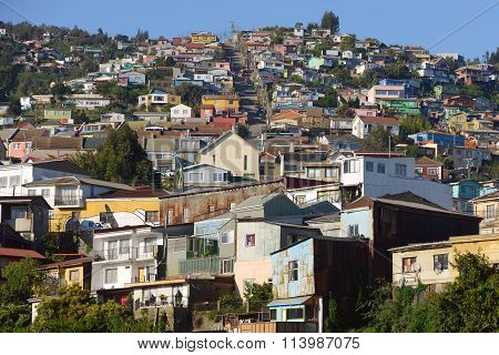 Hill In Valparaiso, Chile
