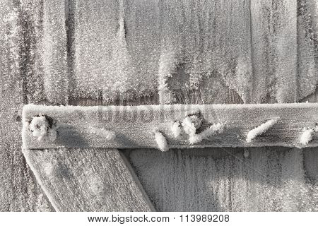 Detail Of Wooden Door Frosted