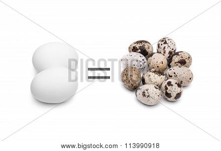 Chicken and quail eggs.