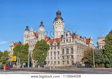 New Town Hall (neues Rathaus) In Leipzig