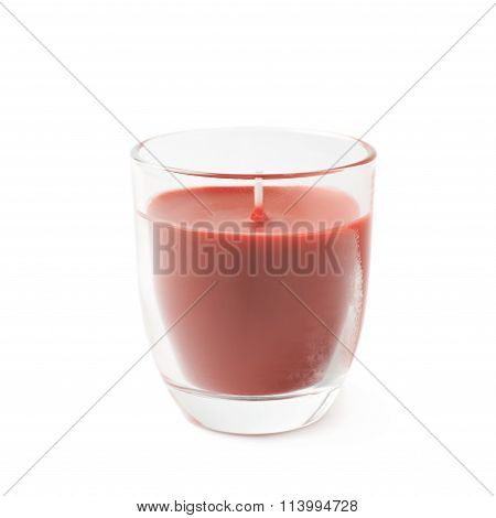 New red candle isolated