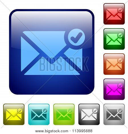 Color Mail Sent Square Buttons