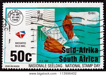 Postage Stamp South Africa 1994 Hands With Letter
