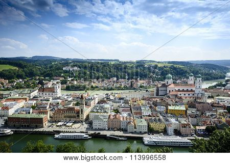 Passau from above