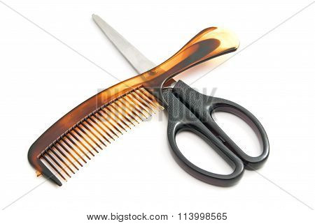 Hairbrush And Scissors
