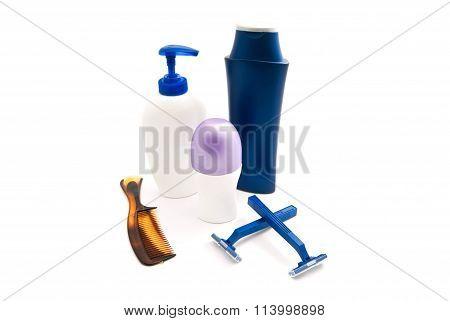 Gel, Shampoo, Comb And Deodorant