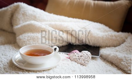 Cup Of Tea At Home In The Morning