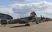 picture of spitfire  - line of supermarine spitfired from world war twoo - JPG