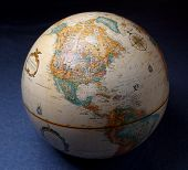 picture of world-globe  - the united states on the world globe - JPG