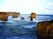 picture of apostolic  - Rocks in the way to the twelve apostoles by the great ocean road - JPG