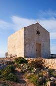 pic of olden days  - Old Madalene church at Dingli Cliffs - JPG