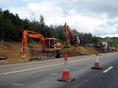 picture of road construction  - road works - JPG