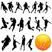 Постер, плакат: баскетбол векторный набор