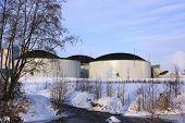 pic of biogas  - a big bio gas plant in winter - JPG