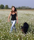 Teen And Her Rottweiler
