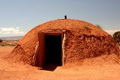 Native American Hut At Monument Valley