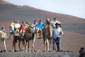 picture of family vacations  - TIMANFAYA NATIONAL PARK LANZAROTE SPAIN  - JPG