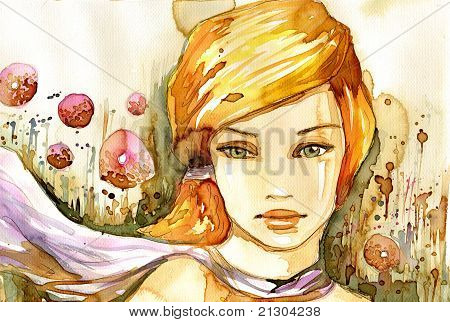 watercolor summer