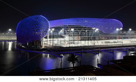 Yas Marina Hotel At Night