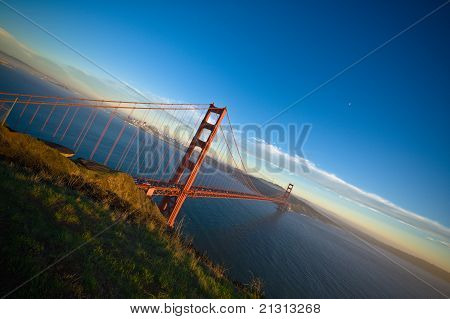 Beautiful Golden Gate Bridge at sunset