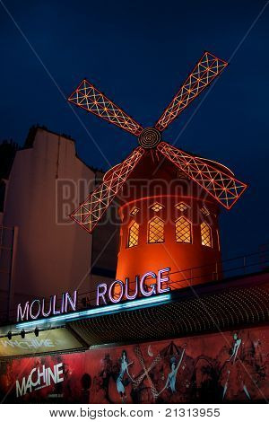 The Moulin Rouge, Paris