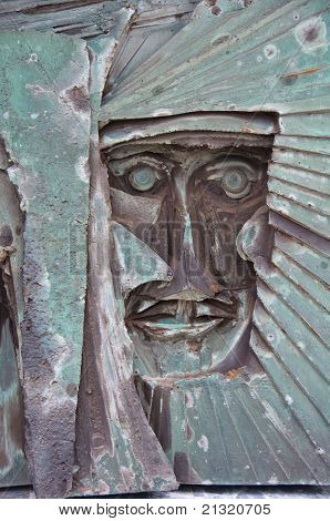 Stone Sculpture At Liverpool Metropolitan Cathedral