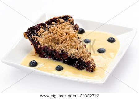 Blueberry Streusel Pie