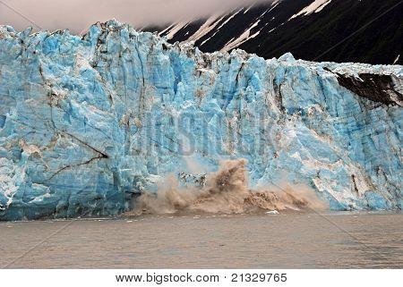 Blue Ice Calving