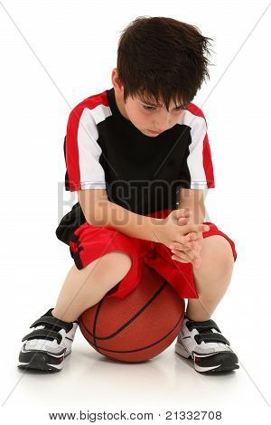 Sad Boy Lost Basketball Game