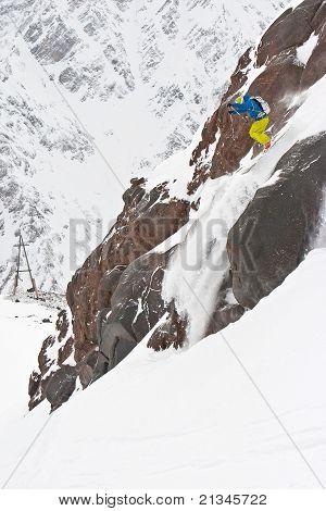 Freeride In Caucasus Mountains