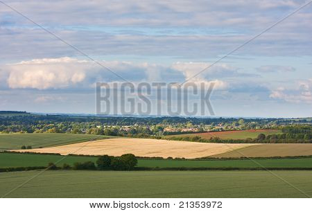 Rural English Landscape View Of The Chilterns In Summer