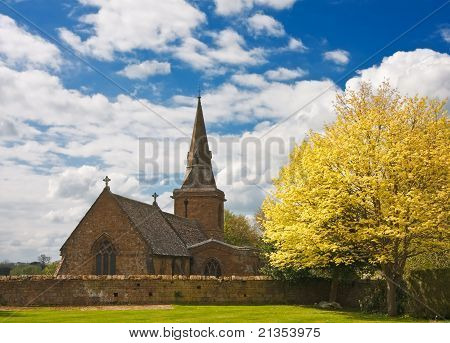 Church On A Sunny Spring Afternoon