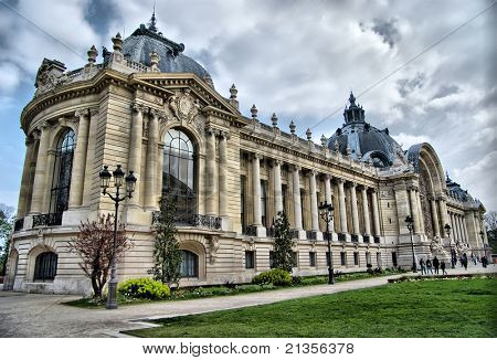 Lateral view of the building Petit Palais in Paris