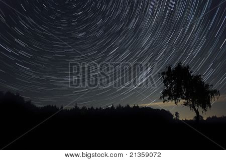 An image of a nice star trails background
