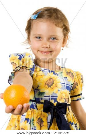 Little Girl With Orange.