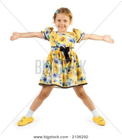 Little Girl Posing Like Star
