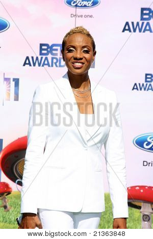 LOS ANGELES - JUNE 26:  MC Lyte arriving at the 11th Annual BET Awards at Shrine Auditorium on June 26, 2011 in Los Angeles, CA