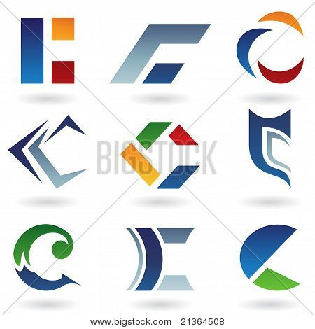 Abstract Icons For Letter C