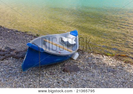 Canoe along the shore