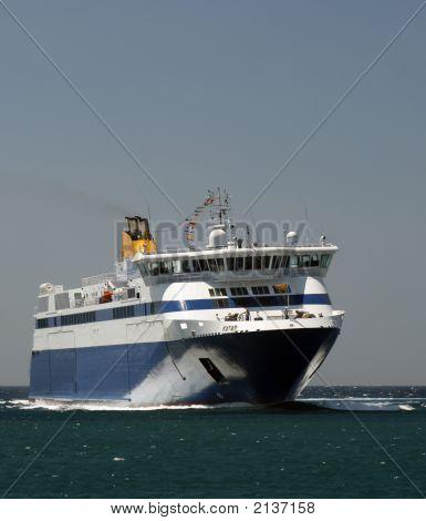 Greek Ferry Boat - Mykonos, Greece